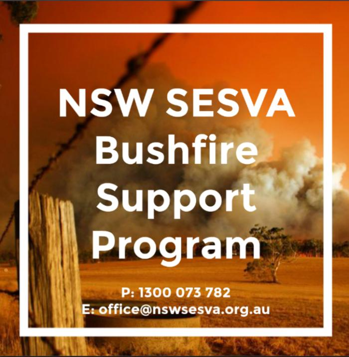 NSW SESVA Bushfire Support Program