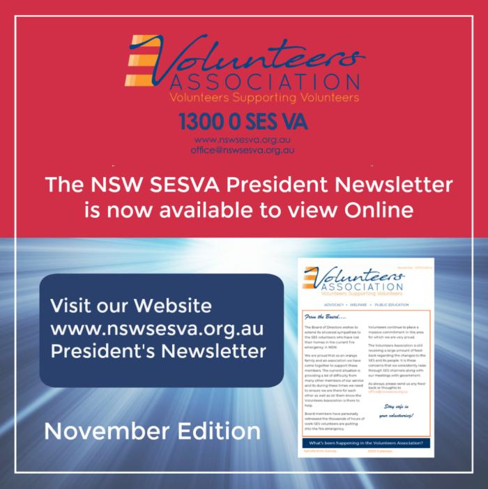 NSW SES President's Newsletter November 2019
